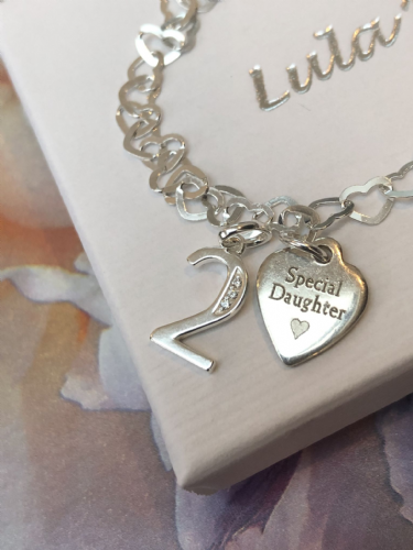 2nd birthday silver bracelet - FREE ENGRAVING